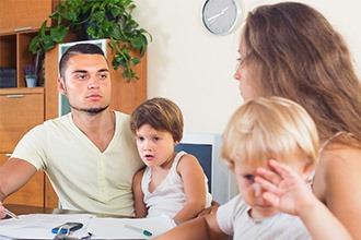 Развод мужа и жены с ребенком