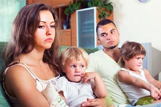 Родители с детьми при разводе