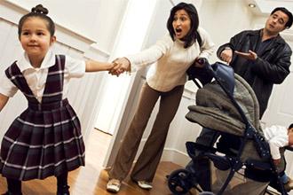 Родители воспитывают детей после развода